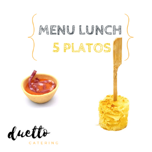 menu lunch 5 platos
